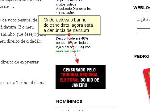 Weblog de Pedro Dória vetado pela Justiça Eleitoral