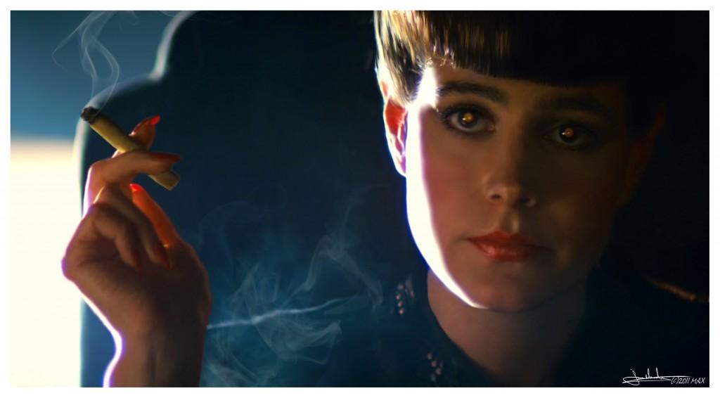 Rachel, em Blade Runner é uma andróide que acredita ser humana por conta de suas memórias implantadas.